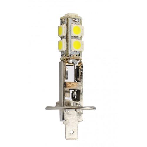 Blister 1 ampoule projecteur à LED H1 - 12V - 1.44W - 9 x SMD5050 - Blanc