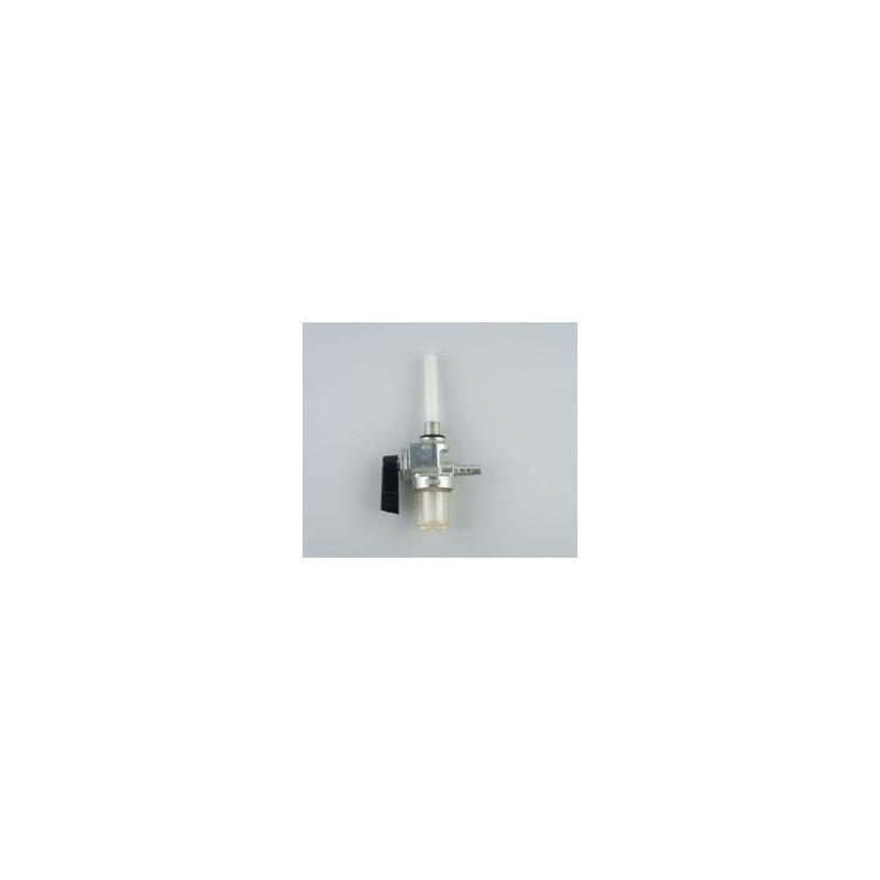 Robinet essence avec cuve filtre sortie essence arrière Universel Ø de fixation 10 mm pour durite de Ø6 mm