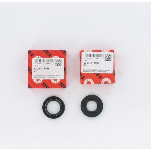 Kit roulements moteur 6203 / 6204 TVH polyamide FAG - Peugeot 103