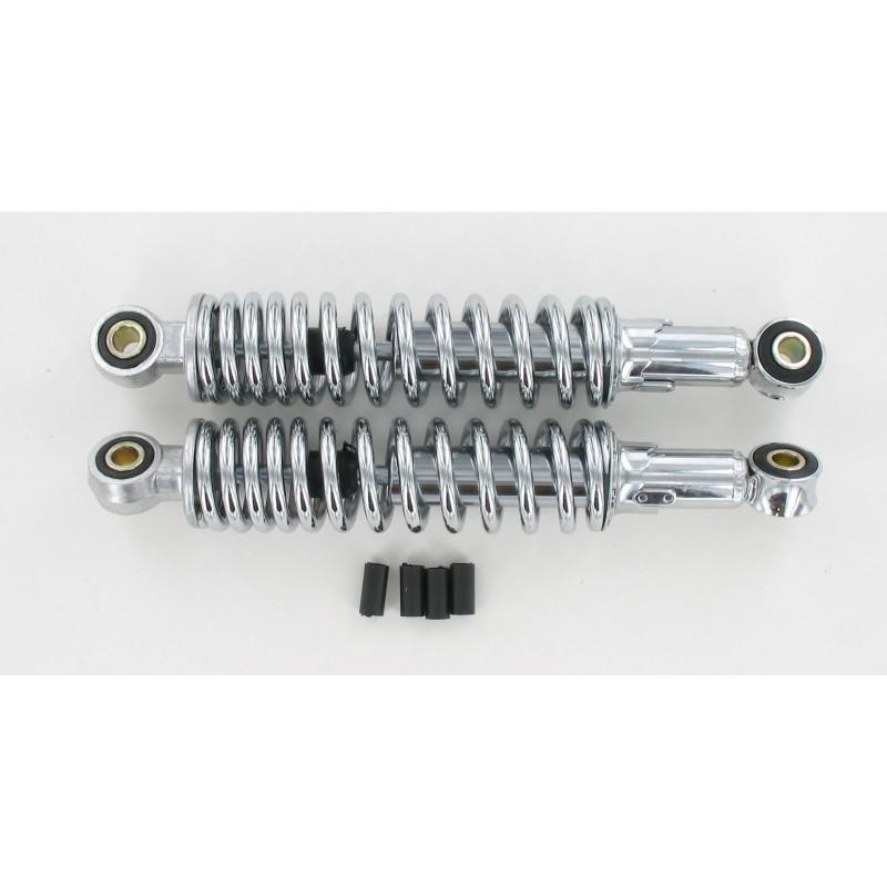 Amortisseurs réglables 300 mm Chromé (La paire)