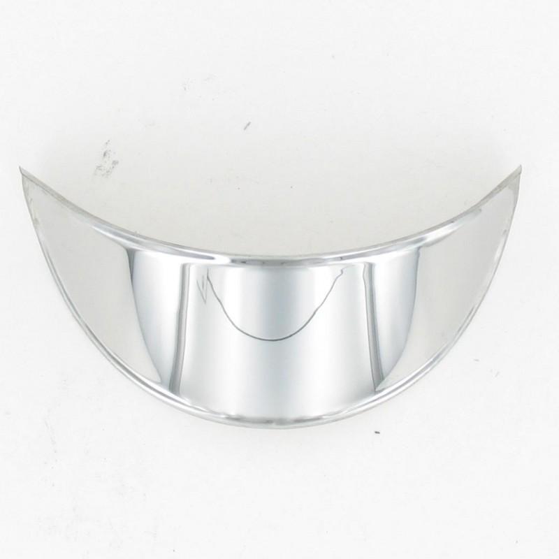 Visiere de phare acier chromée ovale