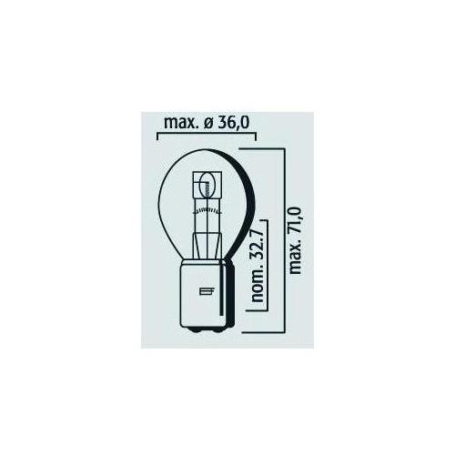 Ampoule Lampe Phare Code BA20d 12V 35/35W
