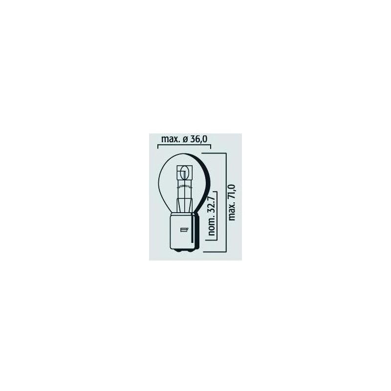 Lampe phare code 12V 45/40W BA20d