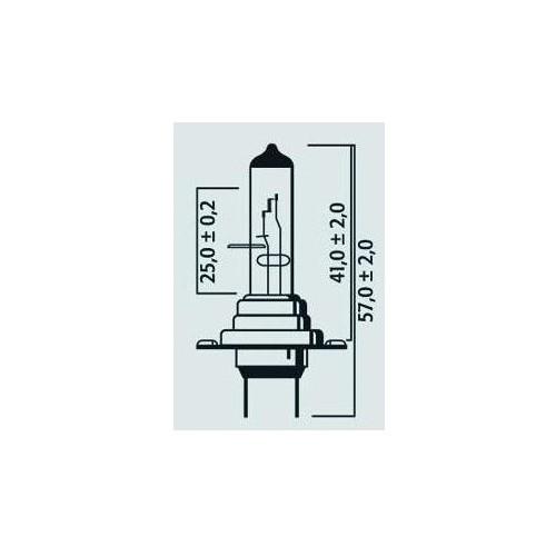 Lampe Phare H7 12V 55W PX26d Std - Halogène