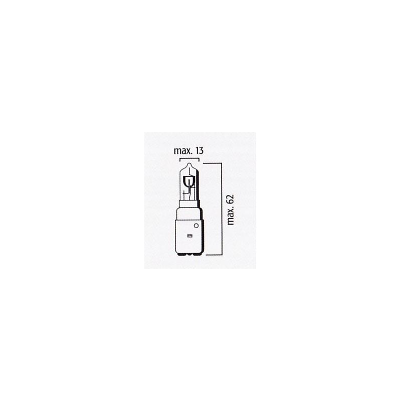 Lampe Phare Code BA20d 12V 35/35W Halogène Bleu