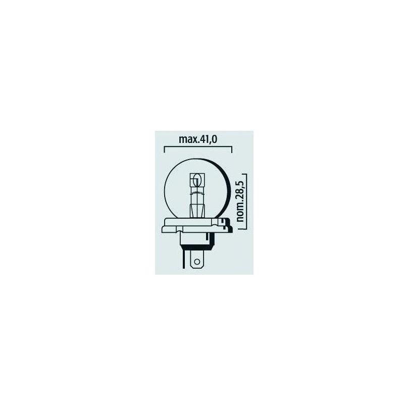 Lampe phare code 6V 45/40W P45t