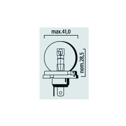Lampe phare code 12V 45/40W P45t
