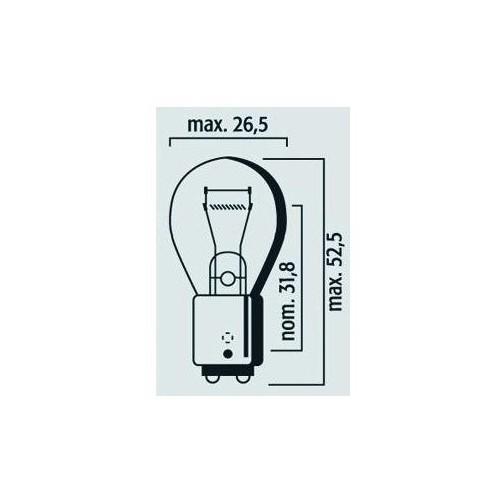 Lampe 12V 21/5W BAY15d Rouge