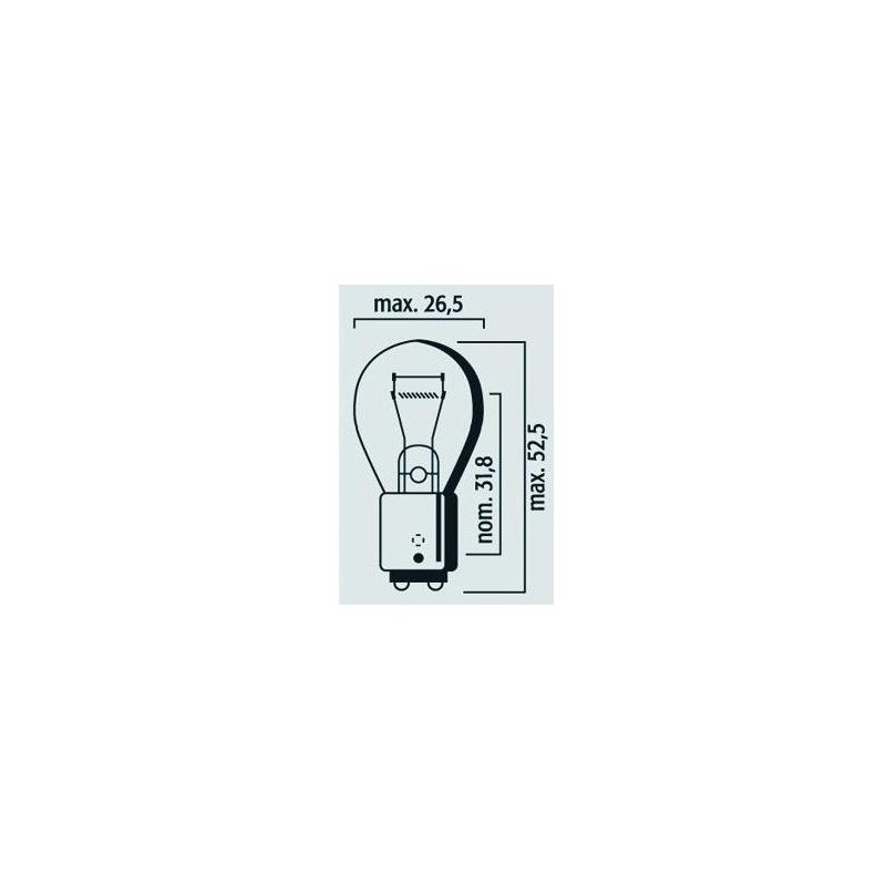 Lampe 12V 21/5W BAY15d