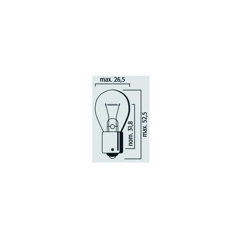 Lampe Stop et clignotant BA15s P21W 6V 21W