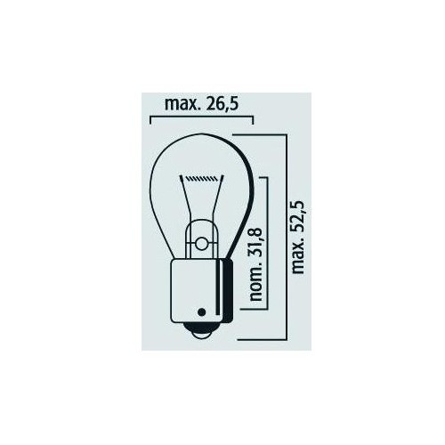Ampoule BA15s 12V 21W Orange