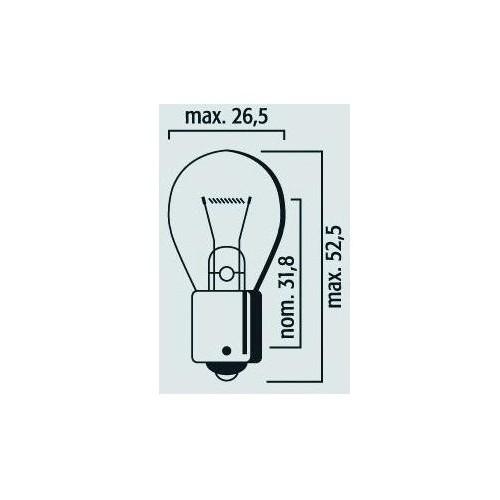 Lampe Stop et clignotant BA15s 12V 21W Rouge