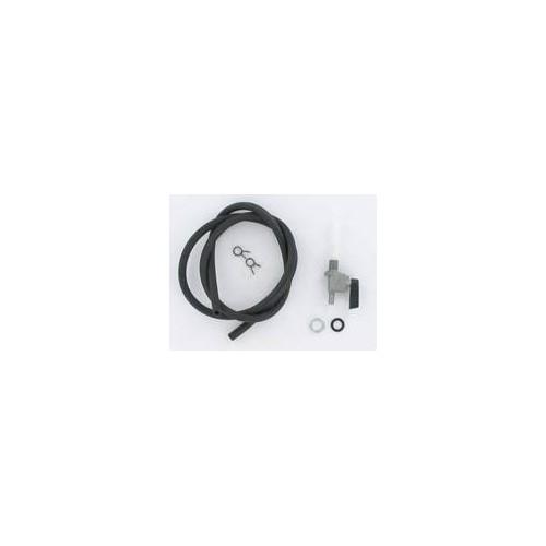 Kit robinet à essence Peugeot 103 : robinet + durite noire + colliers