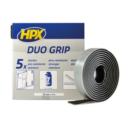 Ruban à Crochets Duo Grip Noir 25mm x 2 m