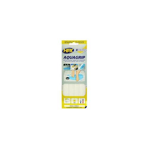Ruban Anti dérapant (glisse) - Aqua grip Transparent 20mm x 240mm (8 bandes)