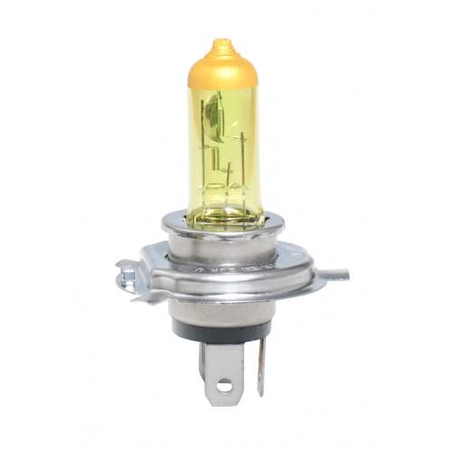 Coffret 2 ampoules halogènes H4 P43t 12V 55/60W Jaune homologué