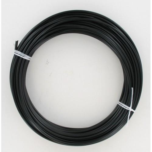 Rouleau de 25 mètres de gaine fil plat 5 mm Noire avec téflon - Ø25/10