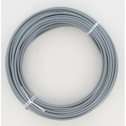 Rouleau de 25 mètres de gaine fil plat 5 mm Grise avec téflon- Ø25/10