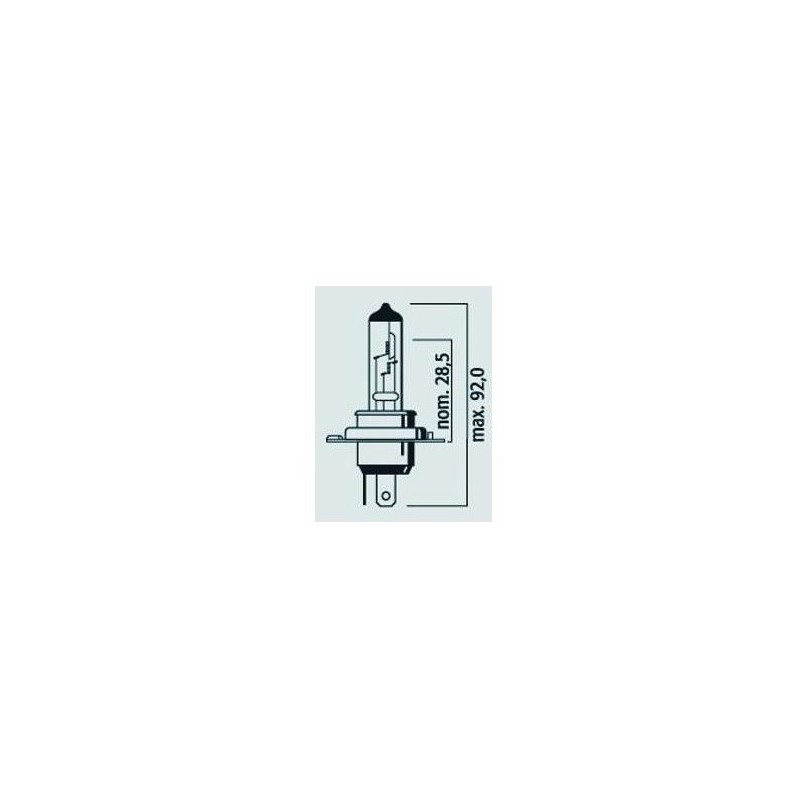 Lampe Phare H4 P43t 12V 60/55W Std - Halogène