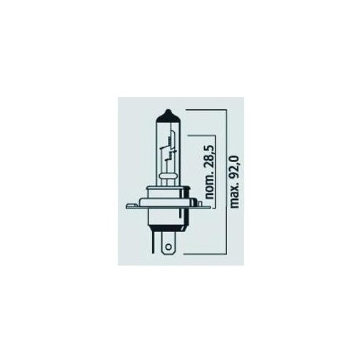 Lampe Phare / Code H4 12V 145/100W P43t Super rally - Halogène