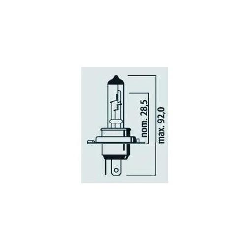 Lampe H4 12V 60/55W P43T MEGA PLUS 50% - Halogène