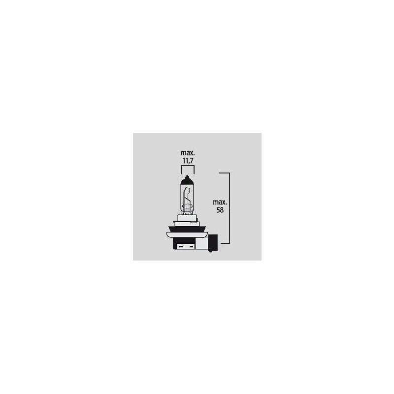 Ampoule H11 PGJ19-2 12V 55W - Halogène