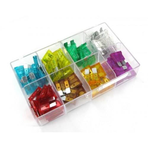 Boites 66 fusibles plats enfichables 3 - 5 - 7.5 - 10 - 15 - 20 - 25 - 30A