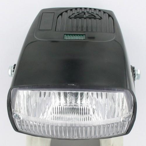 Feu avant noir complet type standard Solex 3800 / 6000 / Flash  -  Homologué