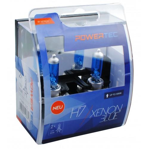 Boite de 2 ampoules halogenes H7 Px26d 12V 55W Xenon Blue homologué