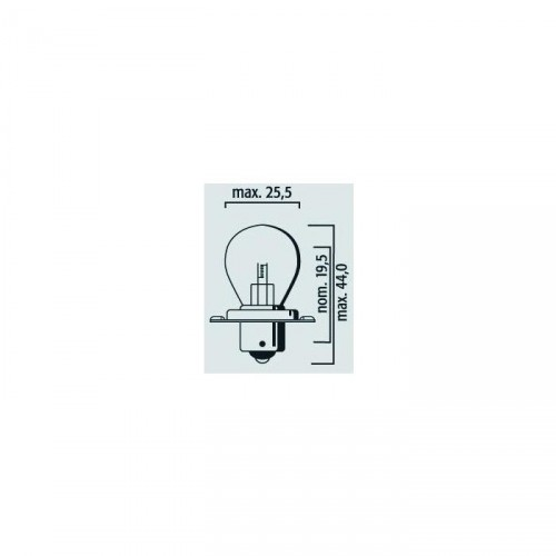 Lampe cyclomoteur 12V 25W P26s blanc