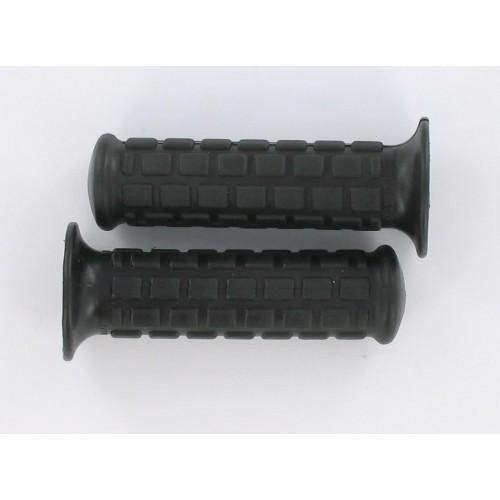 Revêtements de poignées noir 115mm Ø22/24 - La paire