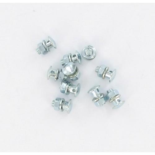 Sachet de 10 serres cable de freins M.5 trou 2.5mm sous tête