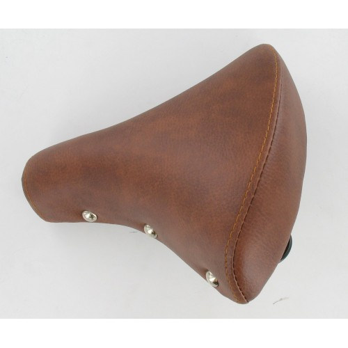 Selle marron 2 ressorts noirs adaptable Cyclomoteur / Solex