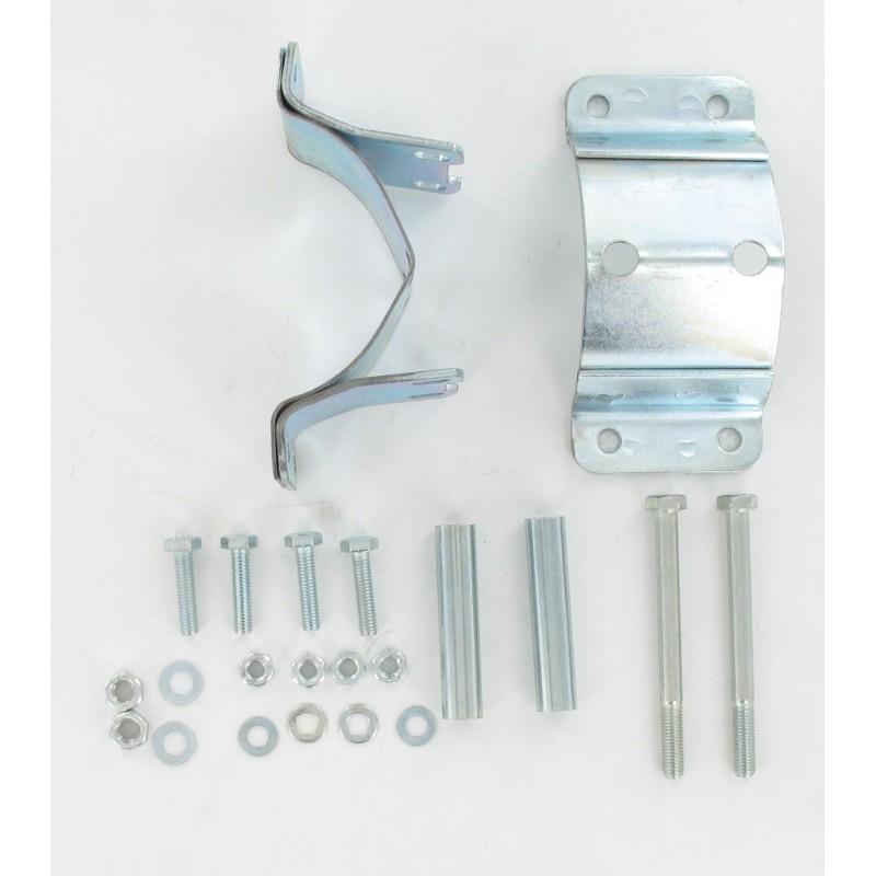 Collier de fixation chromé pour échappement  - MBK 51