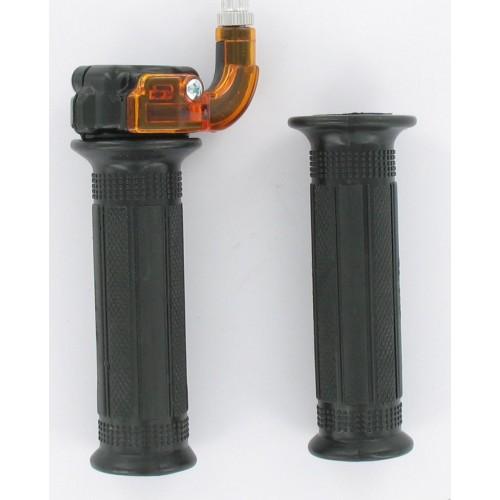 Paire de poignées de gaz mini Targa métal noir