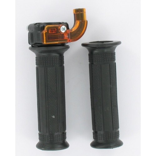 Paire de poignées de gaz mini Targa plastique noir