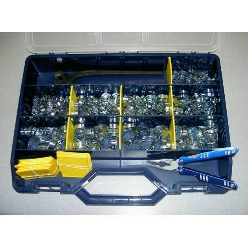 Coffret de 100 colliers de fixation définitive pour câbles ou tuyaux