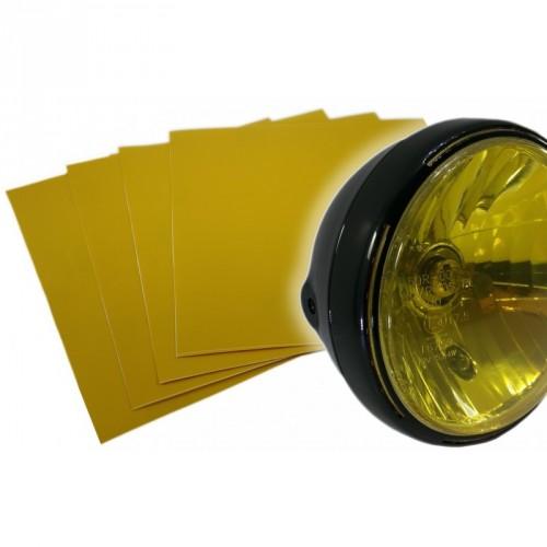 Sticker de phare jaune transparent haute résistance 250*250