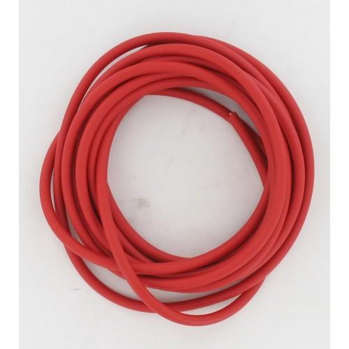 Mètre Fil bougie diamètre 6 PVC Rouge