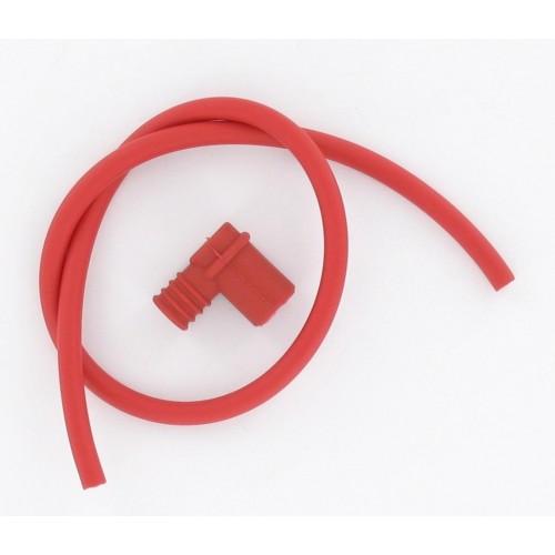 Kit fil de bougie 6mm rouge (50cm) + antipariste rouge