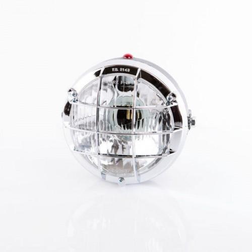 Feu avant complet Ø105 Chromé 2 ampoules P26s + témoin avec grille - Homologué