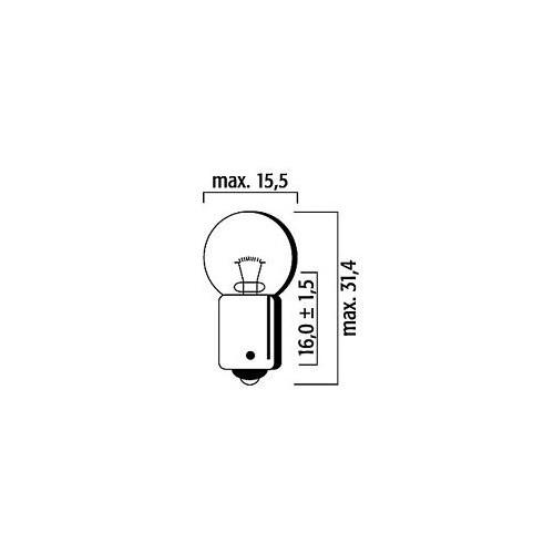 Ampoule GE57  - 12V 4W BA9s - FLOSSER