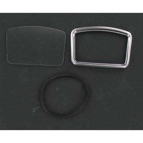 Kit entourage + vitre + joint de compteur rectangulaire MBK 88 Motobecane