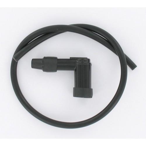Kit fil de bougie noir 7mm (50cm) + antiparasite 90°