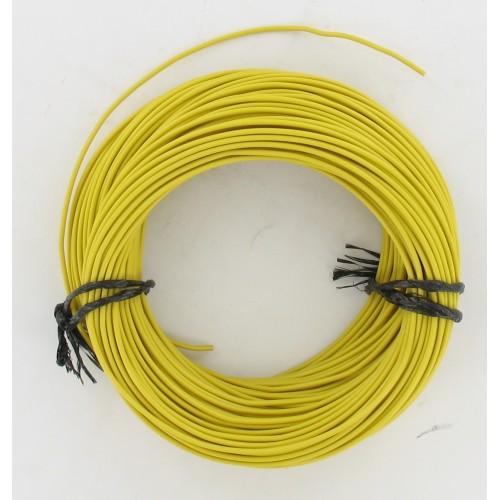 Rouleau de 50 mètres de fil électrique tressé JAUNE 12/10 : 1 x 1.00 mm²