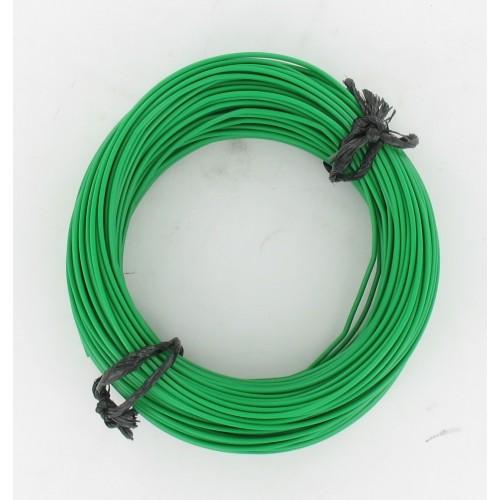 Rouleau de 50 mètres de fil électrique tressé VERT  7/10 : 1 x 0.50 mm²