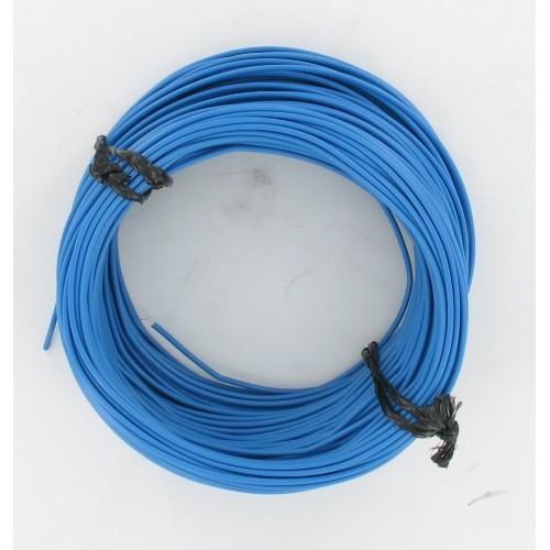Rouleau de 50 mètres de fil électrique tressé BLEU 12/10 : 1 x 1.00 mm²