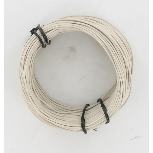 Rouleau de 50 mètres de fil électrique tressé BLANC 9/10 : 1 x 0.75 mm²