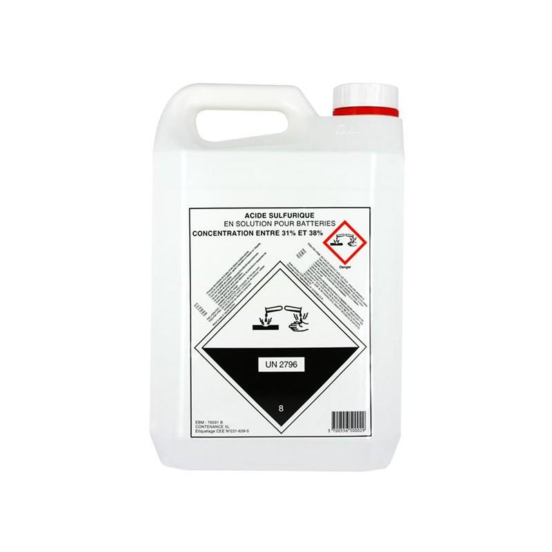 Palette de 108 Bidons 5 litres Electrolyte 37.4