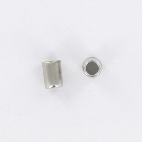 Embout de durite acier inoxydable : Lg 17mm - ØExt : 11.8mm - Øint11/7,5mm